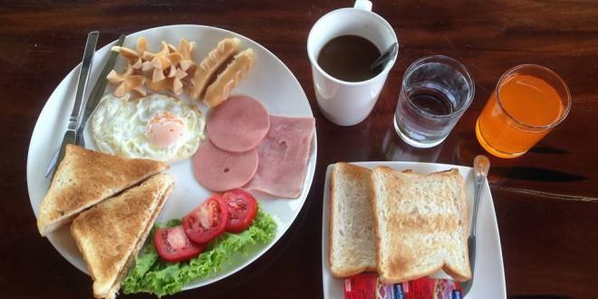 อาหารเช้า Breakfast สำหรับท่านลูกค้า